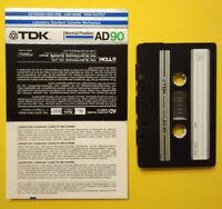 MC Musicassetta TDK AD 90 ad 90 vintage compact audio cassette USATA no agfa °°