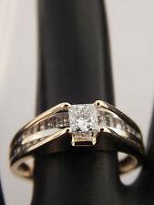 Designer Cathedral .68 tcw Princess Cut Engagement Ring E/VVS Top Quality 14k YG