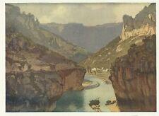 The Gorges Of The Tarn. by E. L. Lawrenson.  The Studio, Circa 1910