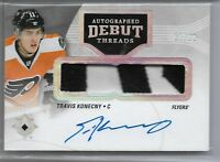 2016-17 Ultimate Collection Hockey Autographed Debut Threads Travis Konecny /99