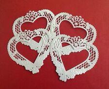 4 Large Heart Marianne Design die cuts, Handmade