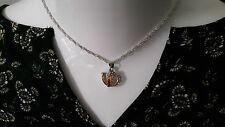 Markenlose versilberte Modeschmuck-Halsketten mit Liebes- & Herz-Themen