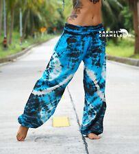 3788881053 Tie Dye Harem Pants Hippie Blue Black Yoga Festival Comfy Boho Gypsy Loose