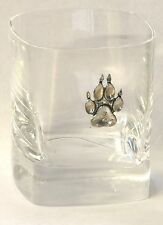 Patte de loup en étain motif paire de cristal avoir coffret de présentation cadeau de chasse