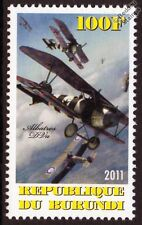 ALBATROS D.V (D.Va) German WWI Fighter Biplane Aircraft Mint Stamp