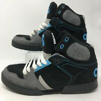 Osiris Mens Skateboarding Shoes High Top Sneakers Lace Up NYC 83 Black Blue 7.5