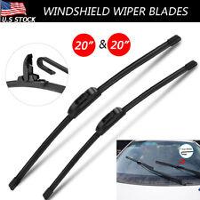 "For Chevy Blazer S10 Dodge Ram GMC 20""&20"" U/J-HOOK Windshield Wiper Blades"