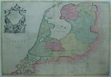 1709 Senex Elihu Yale Map HOLLAND NETHERLANDS Amsterdam