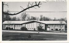 Gaithersburg MD * Public Library  1960s * Montgomery Co.  Rockville