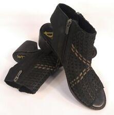 04baef728 Sam Edelman Cooper Woven Leather Open Toe Bootie Sandals Black Sz 9.5 M   159 New