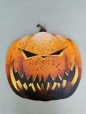 GIANT Wooden Hand Painted Orange Pumpkin Halloween Prop (design 5)