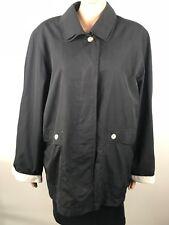 Virgo Rainwear Womens Rain Coat Jacket Black Size 16