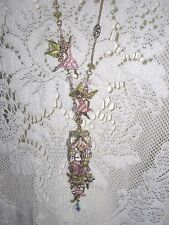 Kirks Folly Fairy House Locket Key Opens Fairy Charms Signed Necklace NWOT