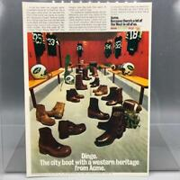 Vintage Magazine Ad Print Design Advertising New York Jets Dingo Boots