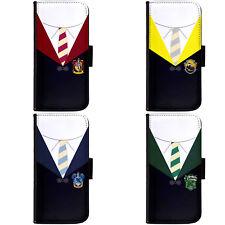 Art Harry Potter Hogwarts Four Houses Phone Wallet Flip Cover for LG Motorola