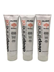 Rusk Deep Shine Oil Volumizing Shampoo 8.5 OZ Set of 3