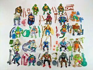 Vintage Playmates TMNT Teenage Mutant Ninja Turtles 24 Figure Lot Near Complete