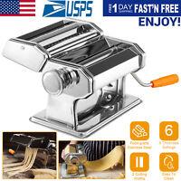 Stainless Steel Fresh Pasta Maker Roller Machine for Spaghetti Noodle Fettuccine