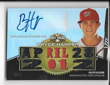 2012 TOPPS TRIPLE THREADS ROOKIE AUTOGRAPH JERSEY GOLD BRYCE HARPER RC AUTO 3/9