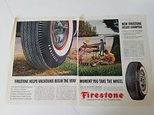 1961 Firestone Tires Deluxe Champion Vacation Family Fishing Ad