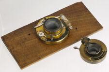 """2 brass lens shutters: """"The Newest"""" (Paris) + Kodak Ball Bearing Bausch & Lomb _"""