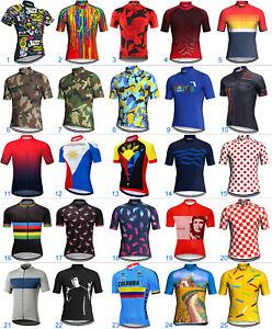 Short Cycling Jersey MTB Bike Motocross Shirt Mountain Road Maillot Riding Cycle
