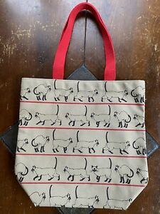 SIAMESE CAT Canvas Tote Bag Handcrafted On Martha's Vineyard Woodchips Designers