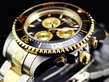 New Invicta Men's 47mm Grand Diver Swiss ETA Chronograph TT 18KGP Black SS Watch