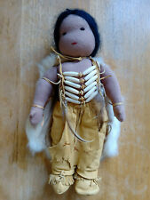 Native American Waldorf Style Doll Handmade All Natural Materials