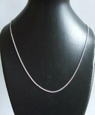925 Sterling Silver Open Curb Chain 20 Inch 1.2 mm Link  Velvet Gift Bag