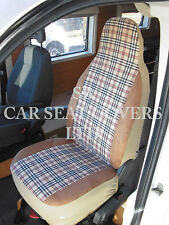 TO FIT A PEUGEOT BOXER MOTORHOME, 2014, SEAT COVERS BLUEBERRY CHECK