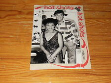 REX GILDO & EARTHA KITT - HOT SHOTS ARIOLA PROMO-FACTS & PHOTO 1984