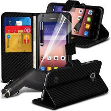 Étuis, housses et coques avec clip en fibre de carbone pour téléphone mobile et assistant personnel (PDA) Huawei