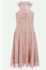 Lace Halter Neck Party Midi Dresses for Women