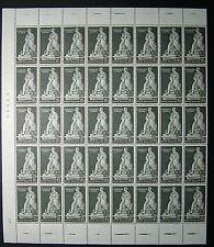 1959  ITALIA 15 lire Celebrazioni di Byron  blocco di 40 valori  MNH**