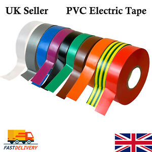 PVC Electrical Insulating Tape Flame Retardant Insulation Tapes 19mm All Colours