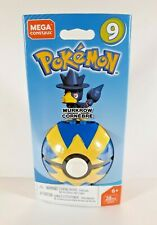 Mega Construx Pokemon Buildable MURKROW Series 9 Figure & Poke Ball - 28 Pieces