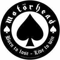 "MOTORHEAD - ""BORN TO LOSE"" - LARGE SIZE - SEW ON BACK PATCH - U.K. BASED SELLER"
