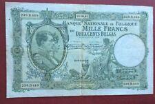 Belgique -  Joli Billet de  1000  FRANCS  du  19-08-1931