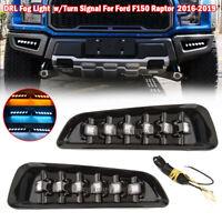 DRL For Ford Raptor F150 F-150 2016-2019 Daytime Running Fog Light W/Turn Signal