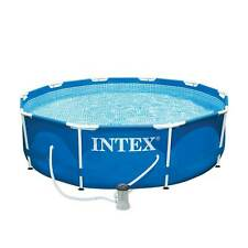 "Intex 10' x 30"" Metal Frame Set Swimming Pool w/ Filter Pump 28201EH (Open Box)"