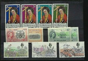 St HELENA  STAMPS 11  QE  MISC SELECTION-   9  VFM/NH   2 USED DATED 1959