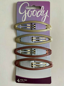 """Goody snap clips Ref# 09234 hair clip long 3"""" purple silver ( 4 pieces ) Women G"""