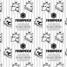 Star Wars The Force Awakens Fabric - Stormtroopers White - 100% Cotton