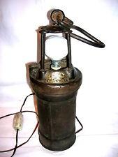 Antike Grubenlampe elektrisch England Cardiff