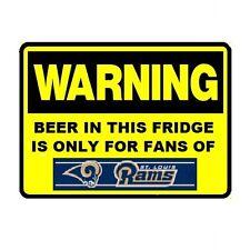 126 Beer Fridge Saint Louis Rams NFL Football Warning Refrigerator Magnet