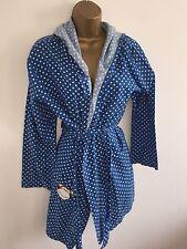 TopShop Blue & White Polka Dot Dressing Gown With Monkey Print Size 8/10/12