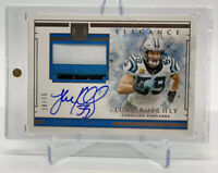 2020 Panini Impeccable Elegance Luke Kuechly 3 color patch card #'d/75 Panthers