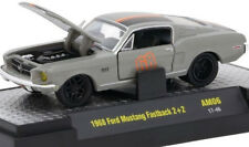 L77 32600 AM06 M2 MACHINE AUTO MODS 1968 Ford Mustang Fastback 2+2 GRAY  1:64