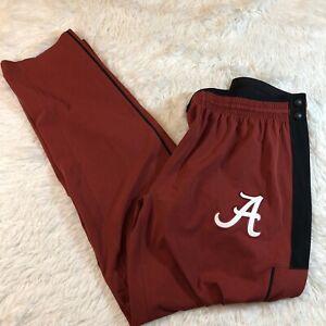 Nike Alabama Crimson Tide Team Issue Rip Away Woven Pants Sz Medium AA7553-698